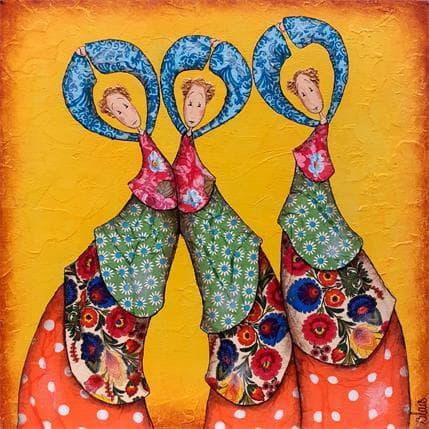 Delphine Blais Les danseuses 25 x 25 cm