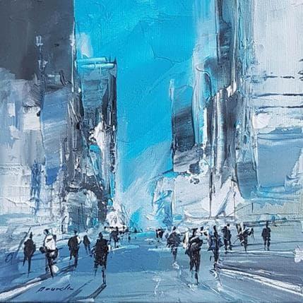 Richard Poumelin Blue city 13 x 13 cm