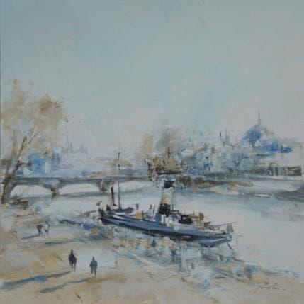 Richard Poumelin La Seine 25 x 25 cm