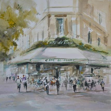 Richard Poumelin Café de Flore 36 x 36 cm