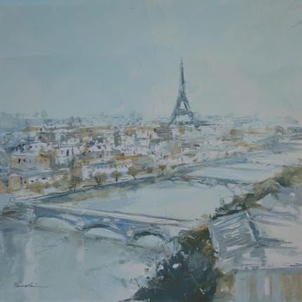 Richard Poumelin Paris vue ciel 36 x 36 cm