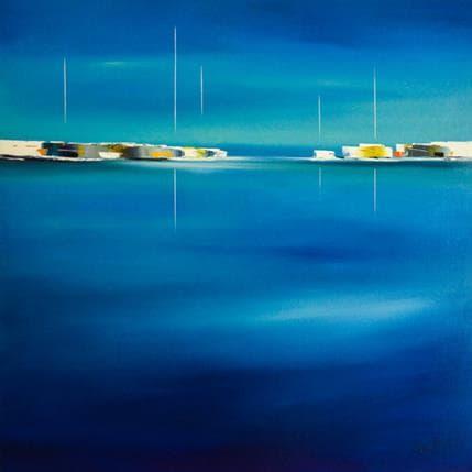 Marie-Ange et Fanny Roussel Reflets marins 120 x 120 cm