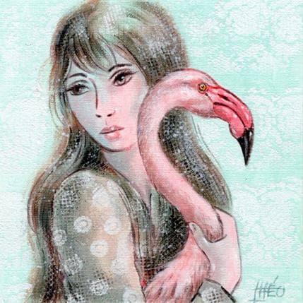 Théo Flamingo 13 x 13 cm