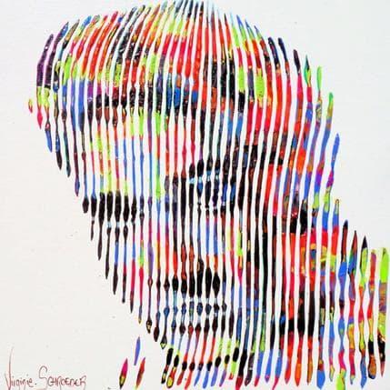 Virginie Schroeder Love me tender - Elvis Presley 19 x 19 cm