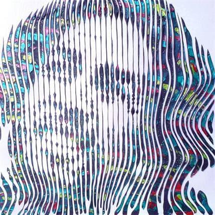 Virginie Schroeder La personnalité hors du commun de Bob Marley 36 x 36 cm
