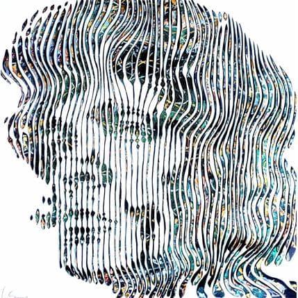 Virginie Schroeder Tyrion Lannister le nain à l'esprit loquace 80 x 80 cm
