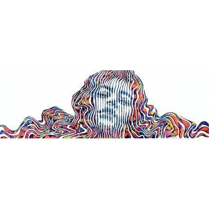 Virginie Schroeder Les émotions intenses de l'amour 120 x 40 cm