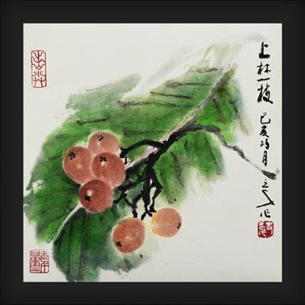 Sanqian Leaf and loquat 19 x 19 cm