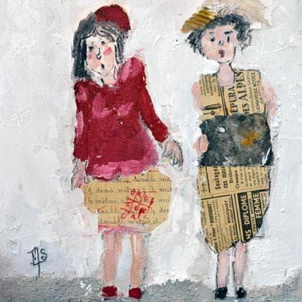 Françoise Soizeau Rose et Emma 25 x 25 cm