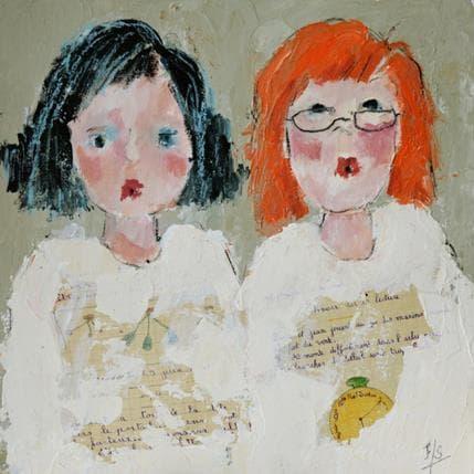 Françoise Soizeau Les écolières 36 x 36 cm