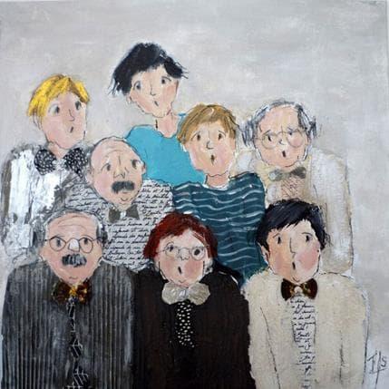 Françoise Soizeau Boys band 36 x 36 cm