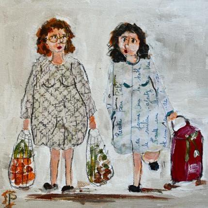 Françoise Soizeau En revenant du marché 19 x 19 cm