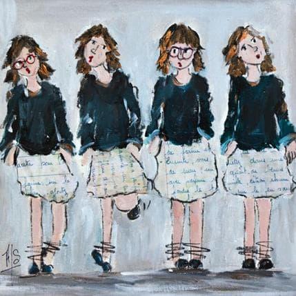 Françoise Soizeau At school 25 x 25 cm
