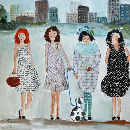 Françoise Soizeau City's girls 36 x 36 cm