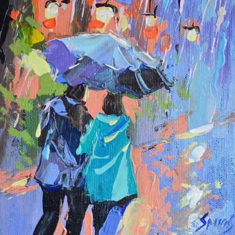 Pair under the umbrella