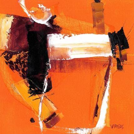Virgis Orange and white 25 x 25 cm