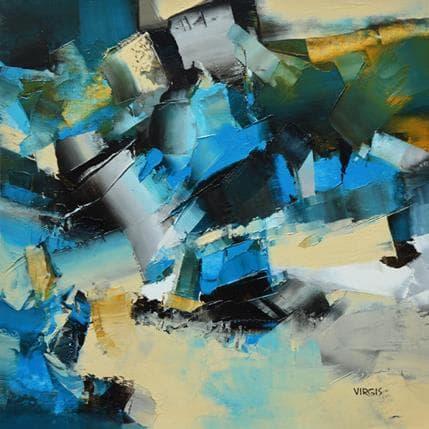 Virgis Blue grit wave 36 x 36 cm