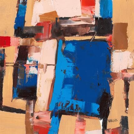 Virgis With a little respect for blue 36 x 36 cm
