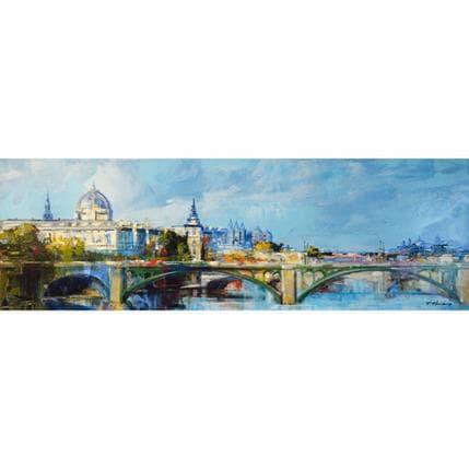 Frédéric Thiéry Paris Pont Notre Dame city hall 120 x 40 cm