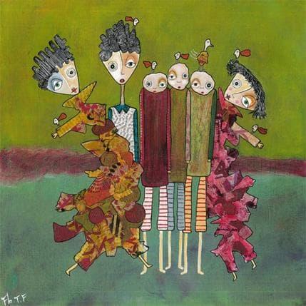 Florence Thoirey Fourcade Allons-y 36 x 36 cm