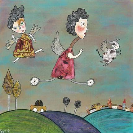 Florence Thoirey Fourcade L'échapée 36 x 36 cm