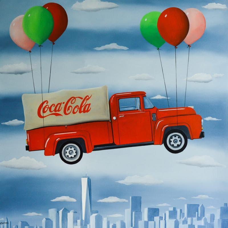 Coca Cola flying