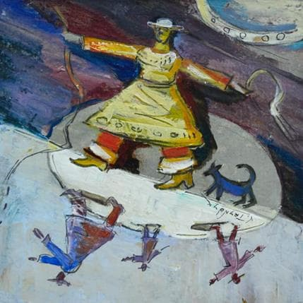 Vasily Tryndyk Circus 13 x 13 cm