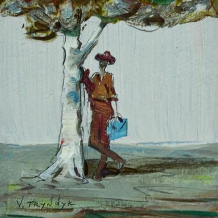 Vasily Tryndyk Under the tree 13 x 13 cm