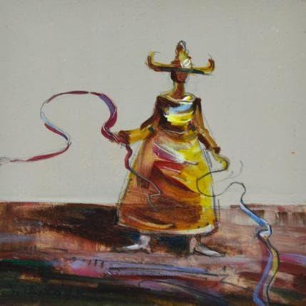 Vasily Tryndyk Yellow dress 13 x 13 cm