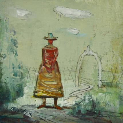 Vasily Tryndyk Waiting for a date 13 x 13 cm