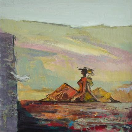 Vasily Tryndyk Maiden dreams 25 x 25 cm