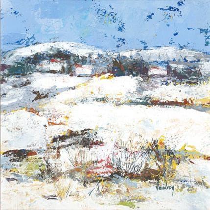 Catherine Vaudron La neige à Lauris 19 x 19 cm