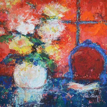 Catherine Vaudron La chaise bleue 19 x 19 cm