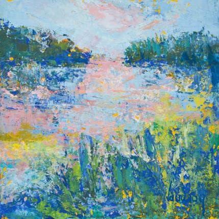Catherine Vaudron L'étang le soir 13 x 13 cm