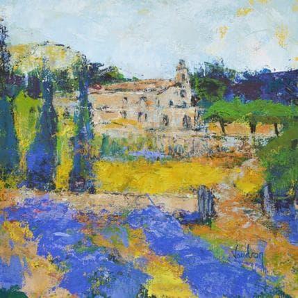 Catherine Vaudron La petite chapelle vers Banon 25 x 25 cm