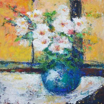 Vaudron Bouquet dans l'atelier 36 x 36 cm