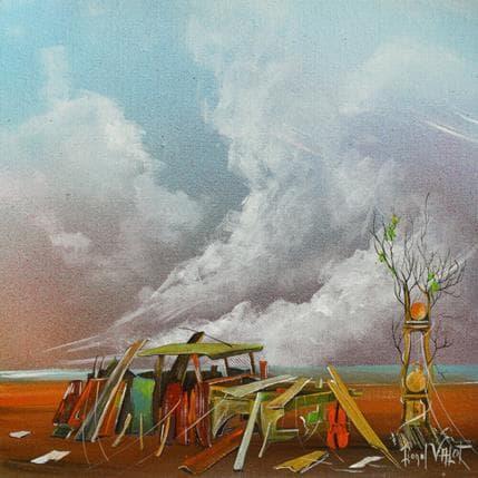 Lionel Valot L'épave 25 x 25 cm