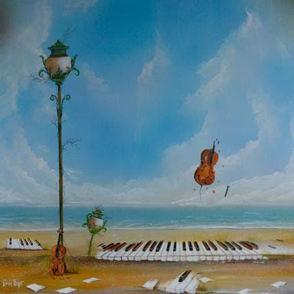 Valot Lionel Dernière mélodie 80 x 80 cm