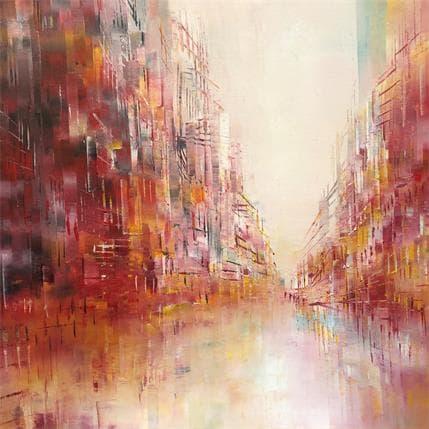 Emmanuelle Levesque Lumière de l'aube 50 x 50 cm