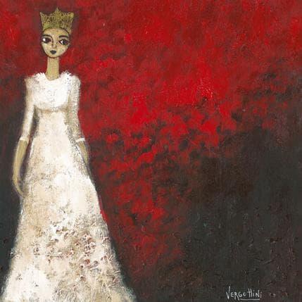 Paola Vergottini La reina blanca 25 x 25 cm