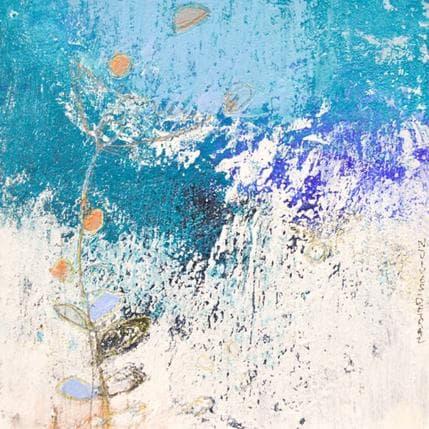 Nathalie Vives-Detraz Floraison bleue 13 x 13 cm
