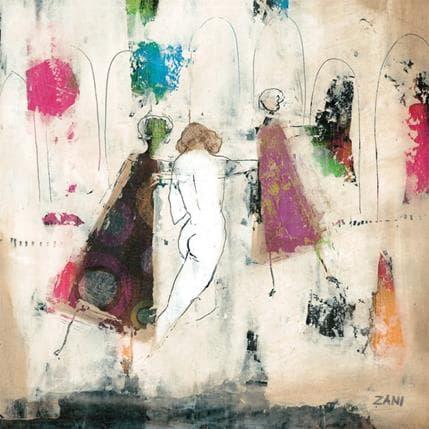 Zani Walking in the town 36 x 36 cm