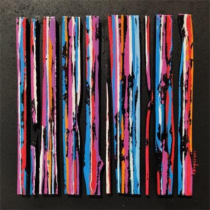 Luc Langeron BC10 Ligne Street bleu rouge 25 x 25 cm