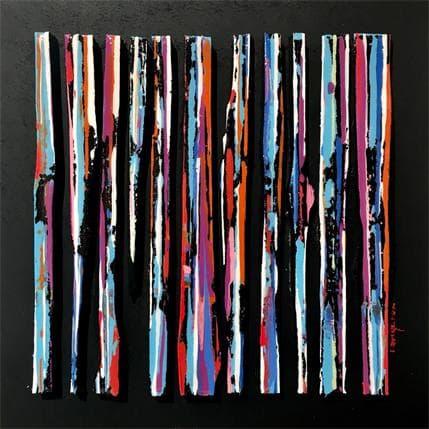 Luc Langeron BC11 impression street bleu violet 25 x 25 cm