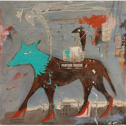 Sylvie Colin Peinture fraiche 25 x 25 cm
