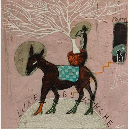 Sylvie Colin Lune blanche 19 x 19 cm