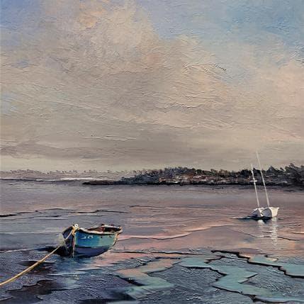Jacques Majos LA BARQUE BLEUE 25 x 25 cm
