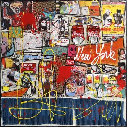 Sophie Costa Warhol versus Basquiat #2 80 x 80 cm