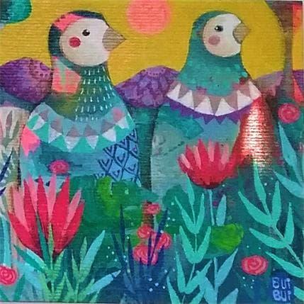 BuiBui Duo d'oiseaux 13 x 13 cm