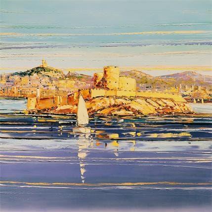 Liisa Corbière Baie de Marseille et Château d'If 80 x 80 cm
